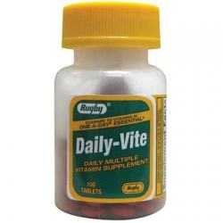 Merchandise 1893408 Rugby Daily-Vite Multivitamin 100 Tablets