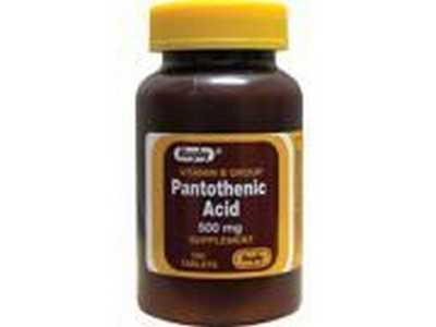 Merchandise 1893734 Rugby Pantothenic Acid 500 mg 100 Tablets