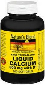 Merchandise 1895788 Natures Blend Liquid Calcium 600 mg Softgels - 100 Count