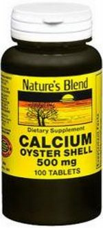Merchandise 1895877 Natures Blend Oyster Shell Calcium 500 mg Tablets - 100 Count