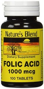 Merchandise 1896393 Natures Blend Folic Acid 1000 mg 100 Tablets