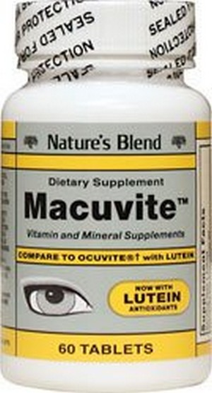 Merchandise 1896954 Natures Blend Macuvite with Lutein 60 Tablets