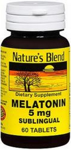 Merchandise 1896997 Natures Blend Melatonin 5 mg - 60 Tablets