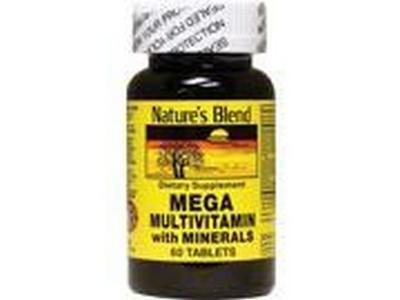Merchandise 1897055 Natures Blend Mega Multivitamin with Minerals 60 Tablets