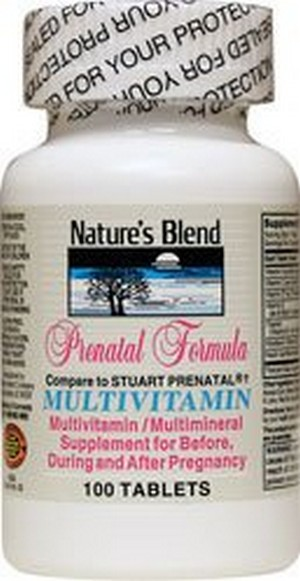 Merchandise 1897195 Natures Blend Prenatal Formula Multivitamin 100 Tablets