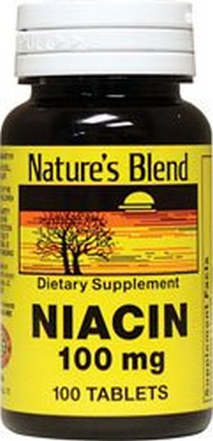 Merchandise 1897217 Natures Blend Niacin 100 mg 100 mg 100 Tablets