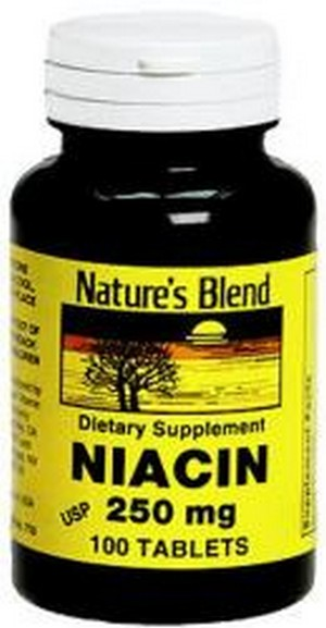 Merchandise 1897233 Natures Blend Niacin 250 mg Tablets - 100 Count