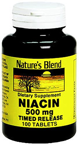 Merchandise 1897349 Natures Blend Niacin Timed Release 500 mg 500 mg 100 Tablets