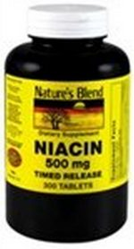 Merchandise 1897365 Natures Blend Niacin Timed Release 500 mg 300 Tablets