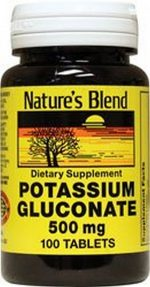 Merchandise 1897675 Natures Blend Potassium Gluconate 500 mg 100 Tablets