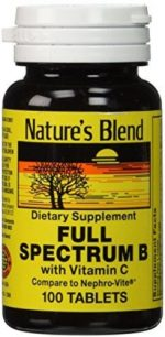 Merchandise 1897780 Natures Blend Full Spectrum B with Vitamin C 100 Tablets