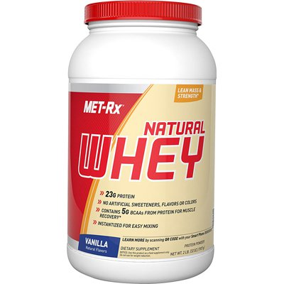 Met-Rx 1139062 Instantized Natural Whey Protein Vanilla - 2 lbs