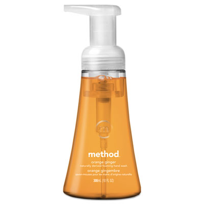 Method Products 01474EA 10 oz Foaming Hand Wash Orange Ginger Pump Bottle