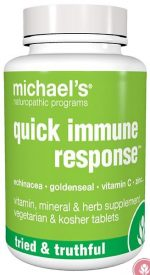 Michaels Naturopathic 364000 Quick Immune Response 60 Tablets
