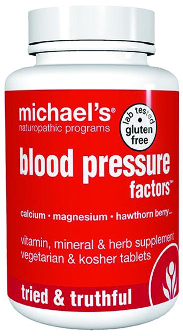Michaels Naturopathic 364192 Blood Pressure Factors 60 Tablets