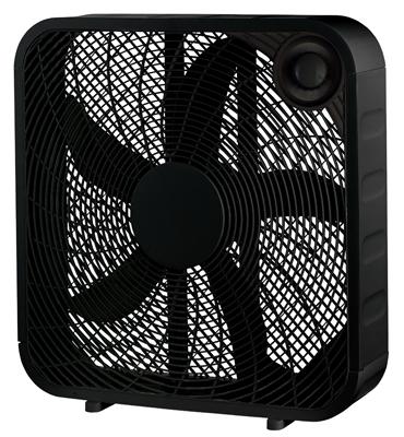 Midea International 218061 20 in. WP Black Box Fan