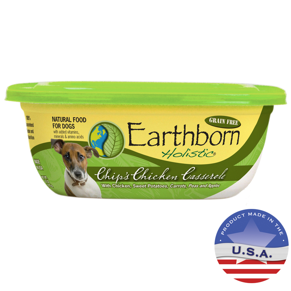 Midwestern Pet Foods 030PP-72053 10 oz Earthborn Holistic Chips Chicken Casserole for Dog
