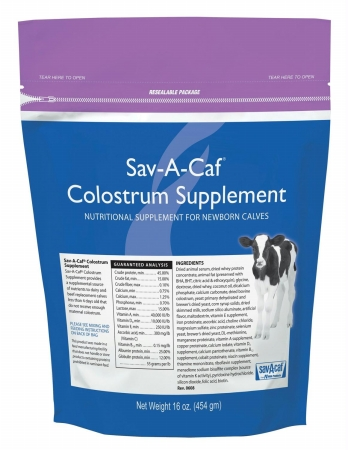Milk Products,inc Sav-a-caf Colostrum Supplement 16 Ounce - 01-7514-0210