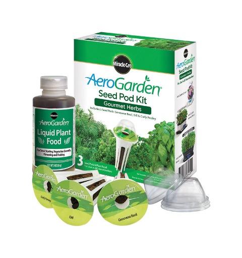 Miracle Gro 800401-0208 AeroGarden Gourmet Herb Seed Pod Kit
