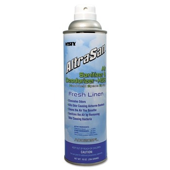 Misty 1037236EA 10 oz Altrasan Air Sanitizer & Deodorizer Fresh Linen Aerosol Spray