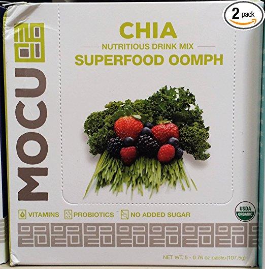 Mocu 661430 Chia Superfood Oomph Drink - 5 Packet