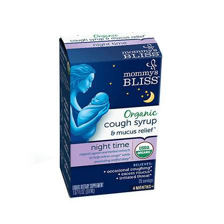Mommy's Bliss Organic Baby Cough Syrup & Mucus Relief Night Time - 2 fl oz