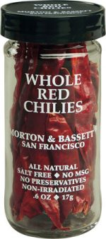 Morton And Bassett 0.6 Ounce Seasoning - Whole Red Chilies Case Of 3