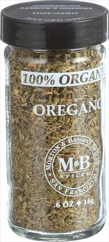 Morton And Bassett 0.7 Ounce 100 Percent Organic Seasoning - Oregano Case Of 3