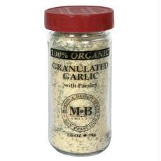 Morton & Bassett B28834 Morton & Bassett Organic Granulated Garlic With Parsley -3x2.6oz