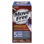 Move Free. 11835 Advanced Plus MSM and Vitamin D3 Total Joint Health Tablet 80 Count - 12 Containers Per Carton