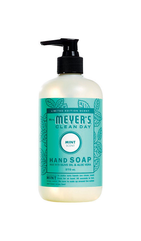 Mrs. Meyers Clean Day 1824044 12.5 oz Mint Scent Hand Soap - Pack of 6