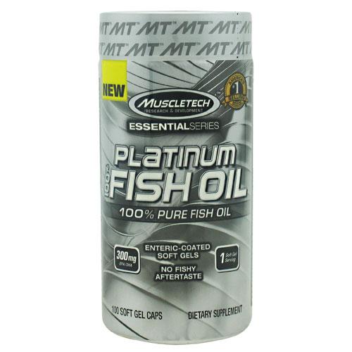 Muscletech 800489 Essential Series 100 Percent Platinum Fish Oil