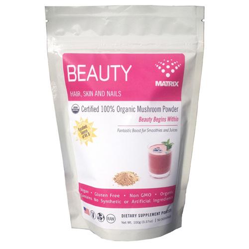 Mushroom Matrix ECW1551415 1 x 3.57 oz Beauty Matrix Organic Powder