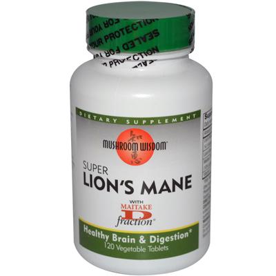 Mushroom Wisdom Super Lions Mane - 120 Vegetable Tablets