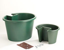 My Gaden Post CLSPG Combination Large & Small Planter Green for 4x4 Lumber Wooden Post