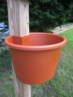 My Gaden Post LPT Large Planter Terracotta for 4x4 Lumber Wooden Post