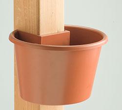 My Gaden Post SPT Small Planter Terracotta for 4x4 Lumber Wooden Post