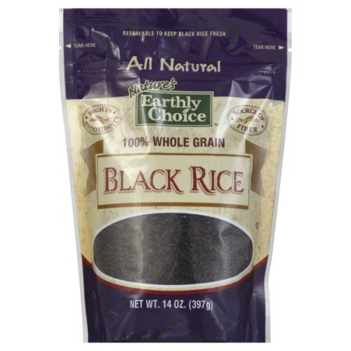 NATURES EARTHLY CHOICE RICE BLACK-14 OZ -Pack of 6