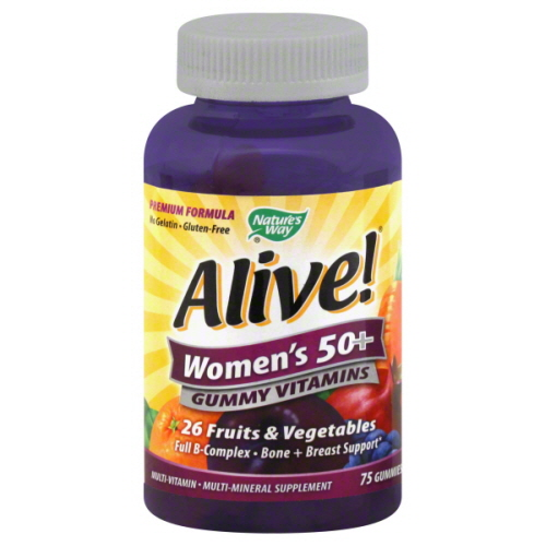 NATURES WAY GUMMY ALIVE WMN 50+-75 PC -Pack of 1