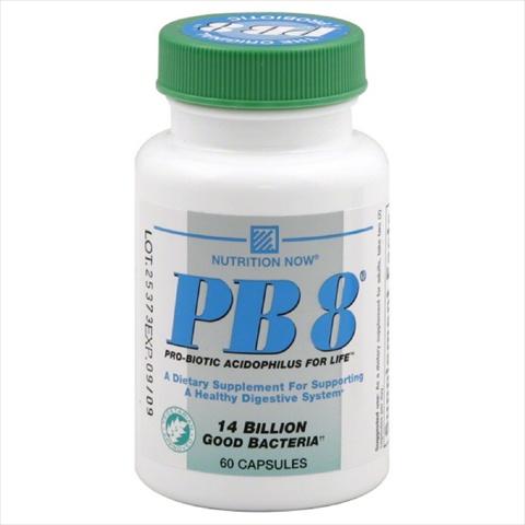 NUTRITION NOW PB8 ACIDOPHILUS VEG-60 CP -Pack of 1