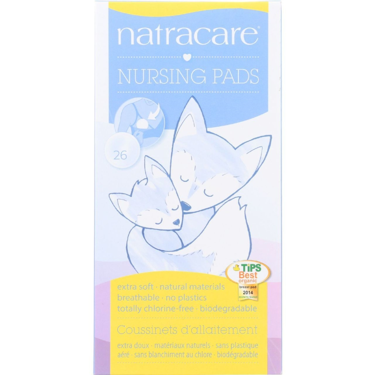 Natracare ECW848713 Natural Nursing Pads - 26 Count