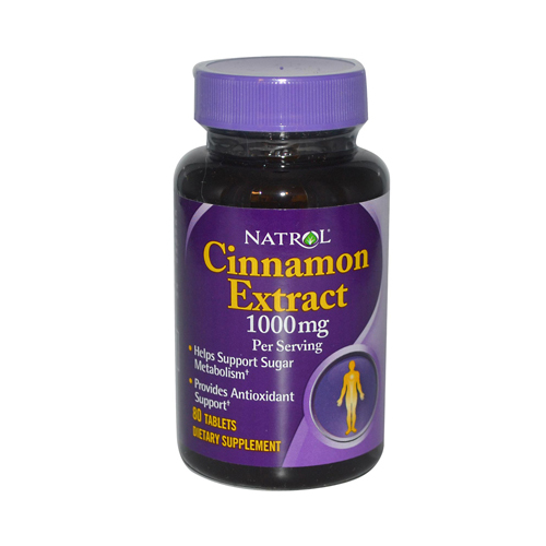 Natrol 696955 Natrol Cinnamon Extract - 1000 mg - 80 Tablets