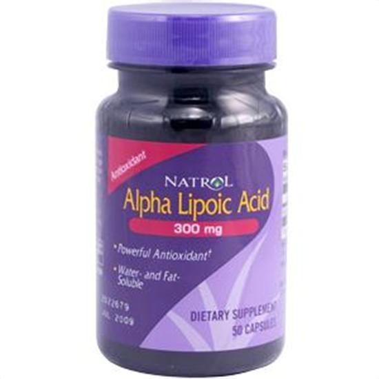 Natrol Brain Vitality & Anti-Aging Alpha Lipoic Acid 300 mg 50 capsules 206662