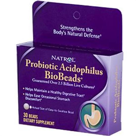 Natrol Probiotics BioBeads Probiotic Acidophilus 30 beads 219274