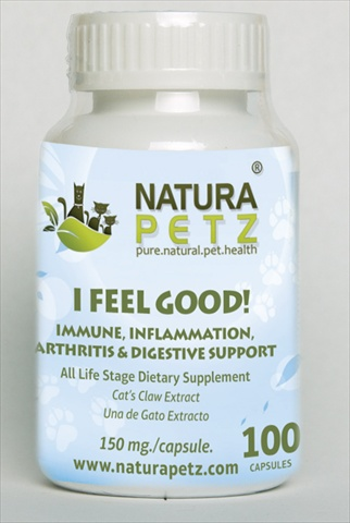 Natura Petz CATS100 I Feel Good - All Life Stages - 100 Capsules - 150 mg per capsule
