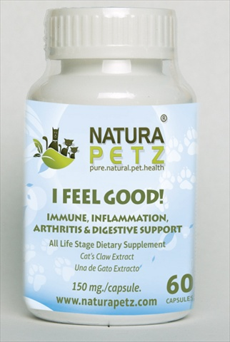 Natura Petz CATS60 I Feel Good - All Life Stages - 60 Capsules - 150 mg per capsule