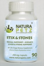 Natura Petz CHAN1 Stix and Stones - All Life Stages - 90 capsules - 250 mg per capsule