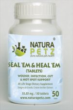 Natura Petz SANT1 Seal Em and Heal EM Tablets - All Life Stages - 50 Tablets - 55.85 mg
