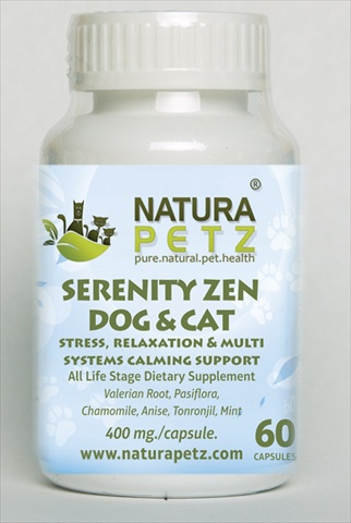 Natura Petz SWEE2 Serenity Zen Dog and Cat - All Life Stages - 60 Capsules - 400 mg per capsule