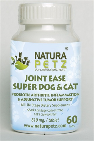 Natura Petz VITA2 Joint Ease Super Dog and Cat - All Life Stages - 60 Tablets - 810 mg per tablet
